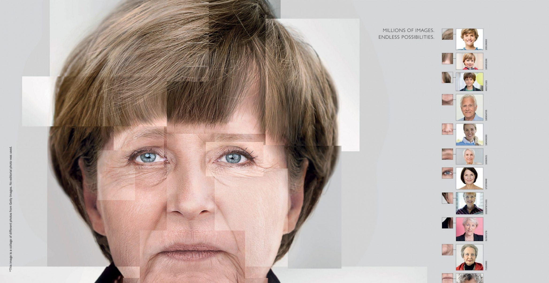 Brillante Werbekampagne: Getty Images bastelt aus eigenen Fotos bekannte Gesichter