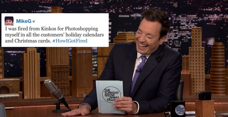 #HowIGotFired: Jimmy Fallon liest die absurdesten Kündigungsstorys vor