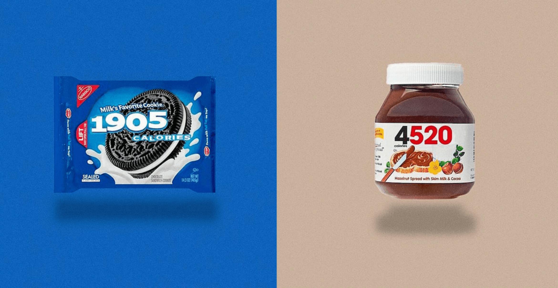 """""""Calorie Brands"""" zeigt kompromisslos, wie viele Kalorien in euren Alltagsprodukten stecken"""