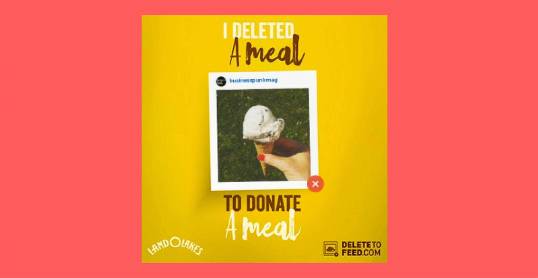 #DeleteToFeed: Non-Profit Organisation gibt elf Mahlzeiten an Bedürftige für jedes gelöschte Food-Bild