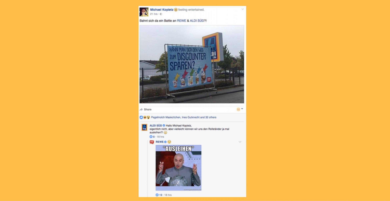 Social-Media-Battle: Nun steigen auch REWE und ALDI SÜD in den Ring