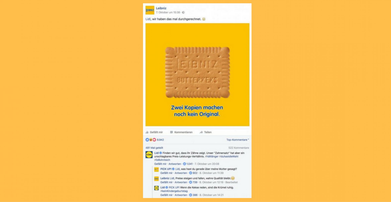Social-Media-Gold: Leibniz, PiCK UP! und Lidl bekriegen sich auf Facebook – und das Internet geht steil