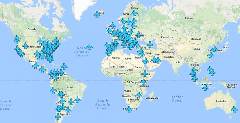Lifesaver: Diese Weltkarte hat sämtliche Airport-Wifis der Welt verzeichnet
