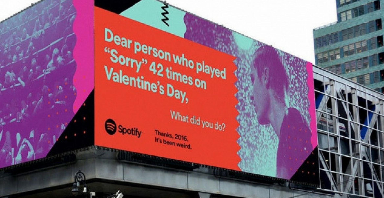 """""""Danke, 2016. Du warst schräg."""": Spotify beendet mit globaler Outdoor-Kampagne das Jahr – und spielt dabei mit User Data"""