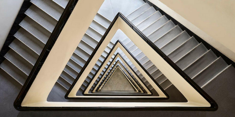 Tunnelblick: Dieser Fotograf liefert beeindruckende Aufnahmen von spiralförmigen Treppenhäusern