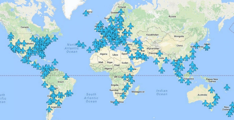 Diese Map versorgt uns mit WLAN-Passwörtern an den jeweiligen Flughäfen