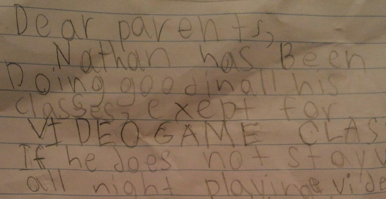 Dieser Entschuldigungszettel eines Siebenjährigen ist raffinierter als die Oceans-Trilogie
