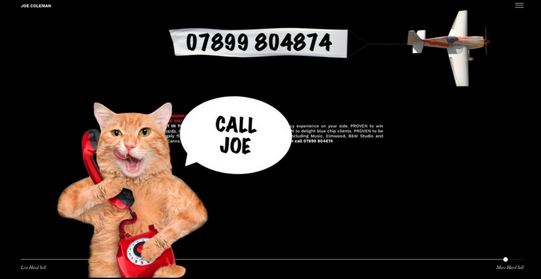 Freelance: Mit seiner Website staubt der Copywriter Joe Coleman fast jeden Job ab