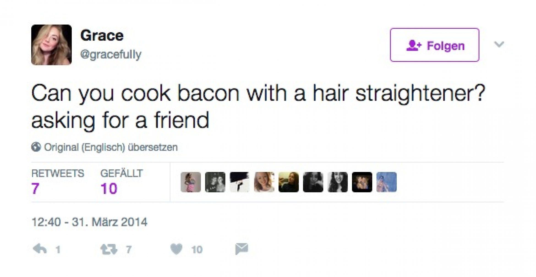 Diese Leute haben definitiv nicht für einen Freund gefragt