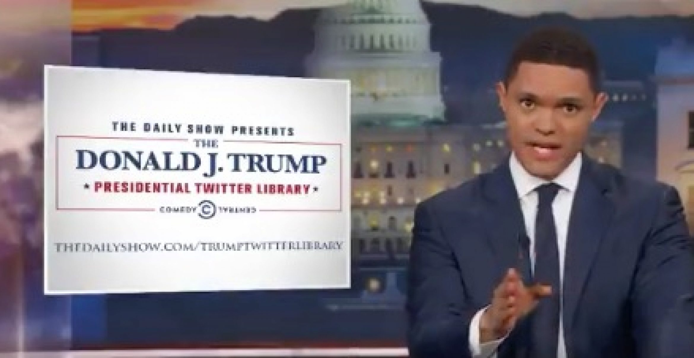 """Daily Show: """"Donald J. Trump Presidential Twitter Library"""""""