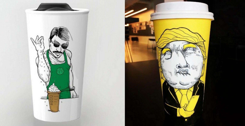 Comic-Cups: Diese Illustratorin verschönert Starbucks-Becher