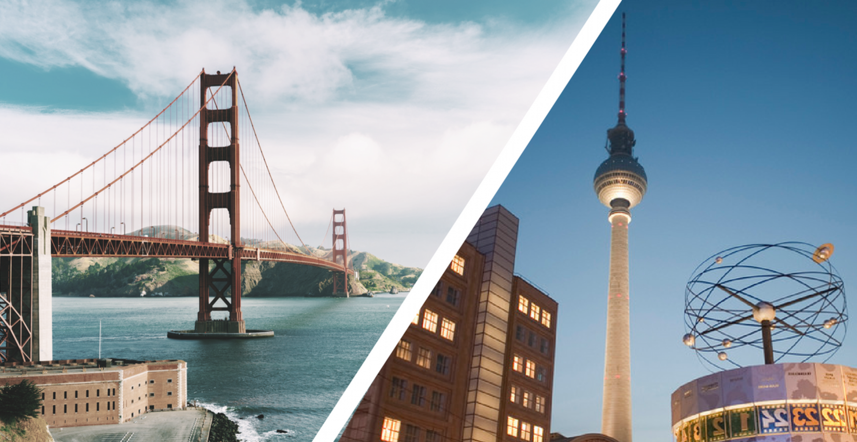 San Francisco vs. Berlin: Der ultimative Vergleich der beiden Startup-Metropolen