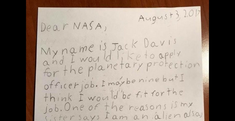 "Neunjähriger bewirbt sich bei der NASA als ""Planetary Protection Officer"""