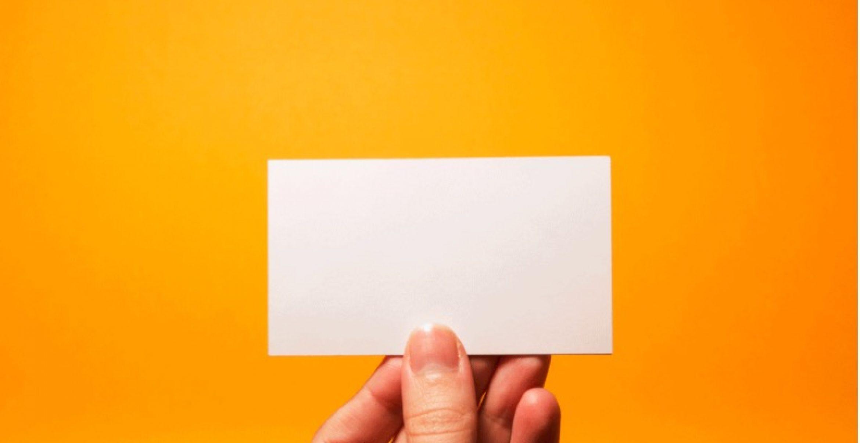 Diese Visitenkarten sind komplett leer – auf den ersten Blick