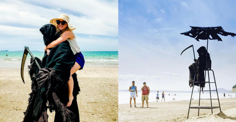 Neuseeland will mit Instagram-Sensenmann Badeunfälle verhindern