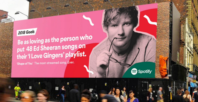 Mit diesen Werbeplakaten schaut Spotify auf das Jahr 2017 zurück