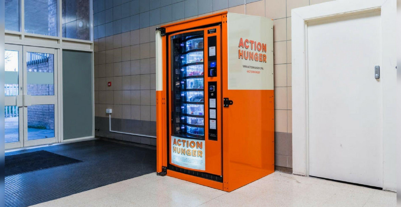 An diesen Automaten gibt es kostenloses Essen für Obdachlose
