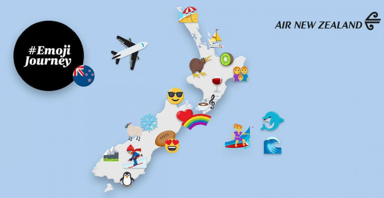 Air New Zealand: Reiseplanung per Emojis