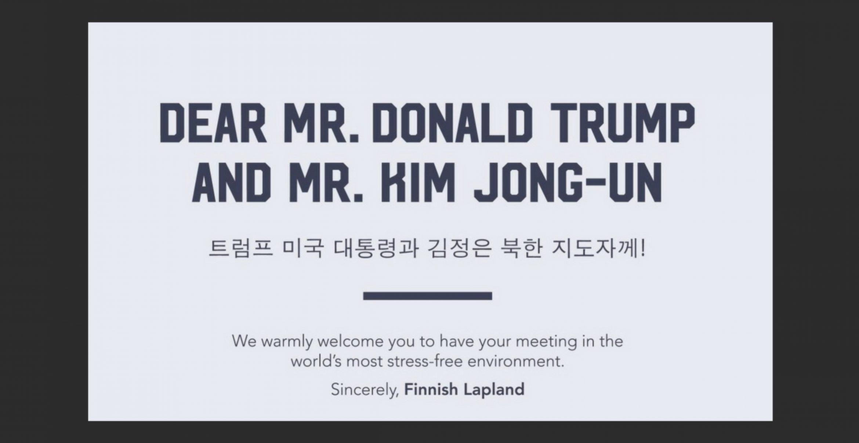 Finnland lädt Donald Trump und Kim Jong-Un zum Rendezvous ein