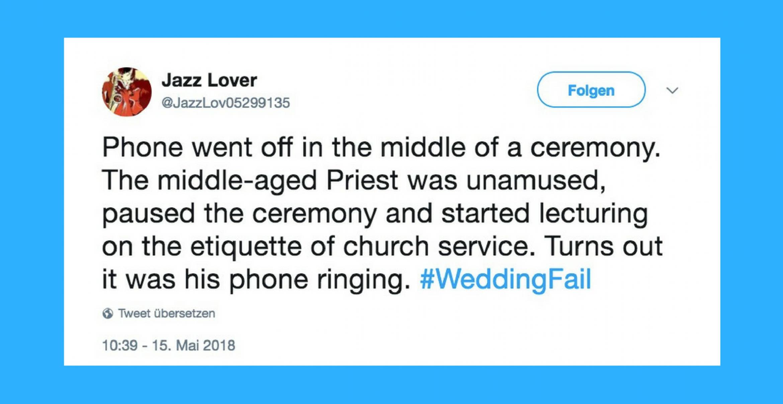 Drama, Baby: Zehn Hochzeits-Pannen, die kein Gast je vergessen wird