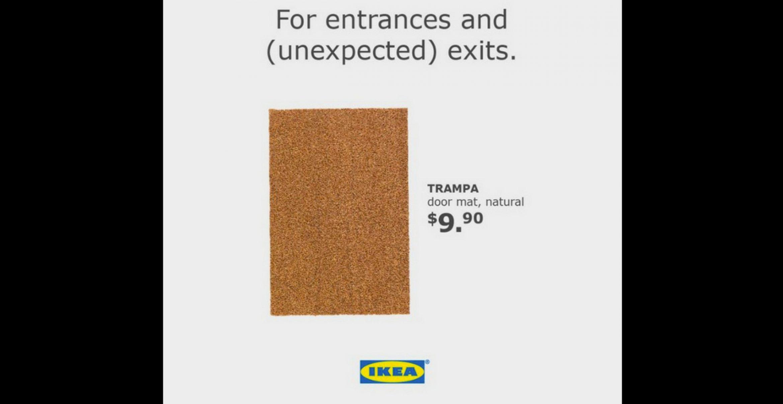 Ikea teilt mit einer Fußmatte gegen Donald Trump aus