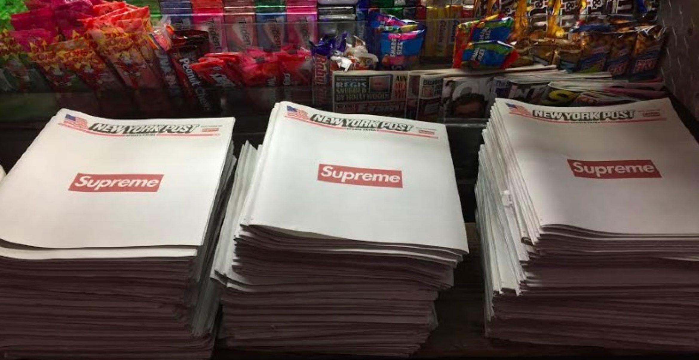 Supreme kauft Cover der New York Post – und löst Hype um Print aus