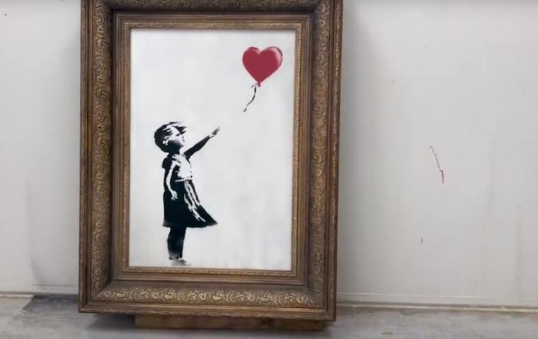 Banksys Schredderaktion verlief nicht ganz so, wie geplant