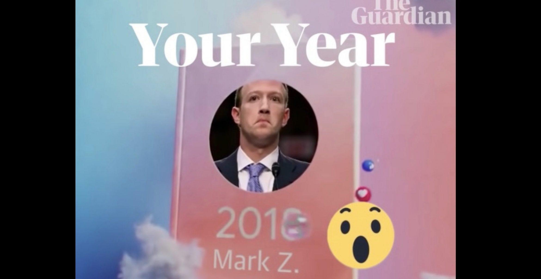 Der Guardian trollt Mark Zuckerberg mit seinem eigenen Facebook-Jahresrückblick