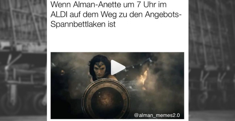 Aldi springt auf Alman-Zug auf und wirbt mit selbstironischem Meme