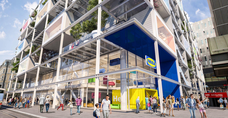 Green in Wien: Ikea baut einen Store komplett ohne Parkplätze