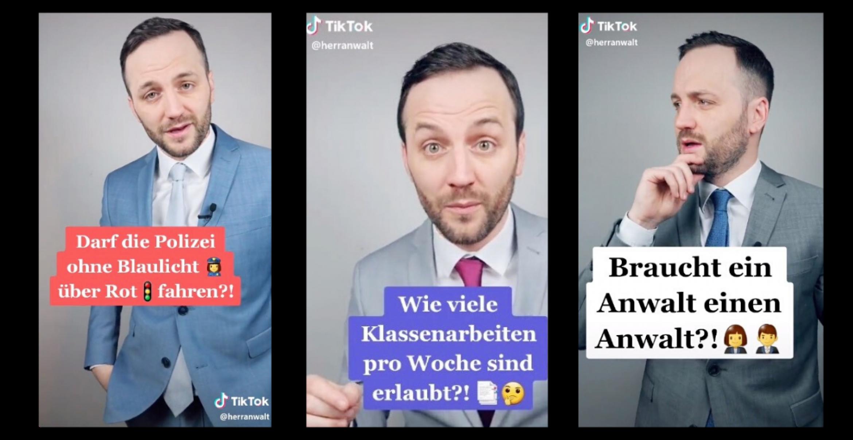 Tiktok: Wie ein Anwalt mit juristischem Content die Plattform aufmischt
