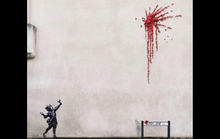 Neues Werk: Banksy feiert den Valentinstag auf seine Weise
