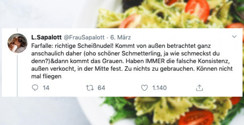 Twitter-Userin reviewt quasi alle Nudelsorten dieser Welt und geht damit viral