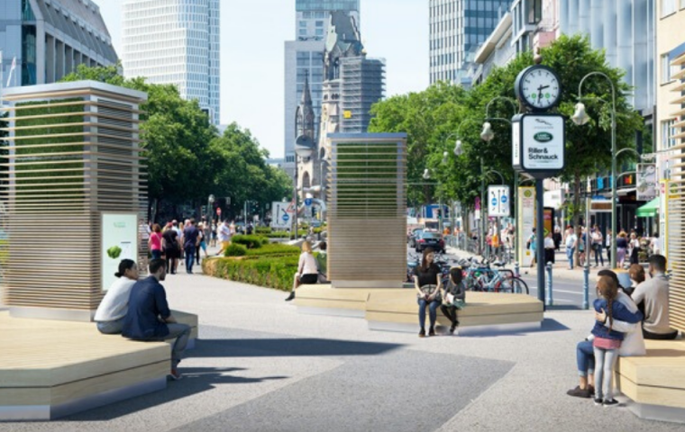 Kampf gegen Luftverschmutzung: In Berlin gibt es jetzt künstliche Bäume