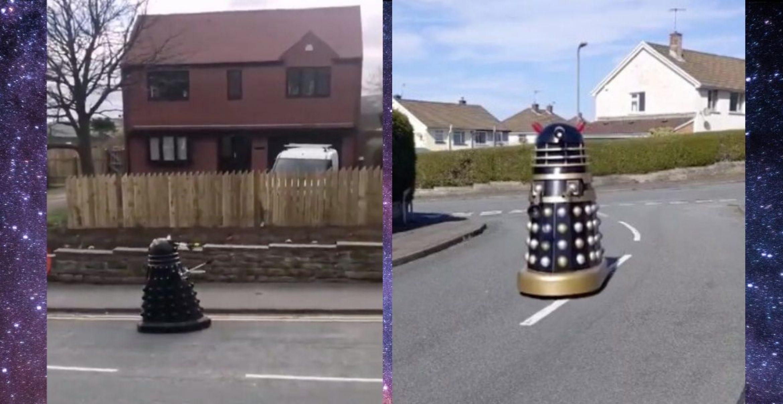 """In Großbritannien fordern Roboter aus """"Doctor Who"""" zur Selbstisolation auf"""
