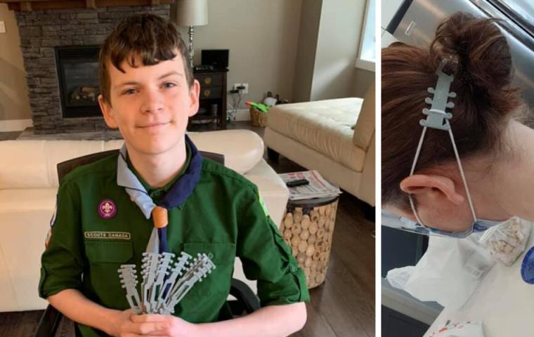 Jugendlicher erfindet Ohrenschützer für Gesichtsmasken und 3D-druckt sie