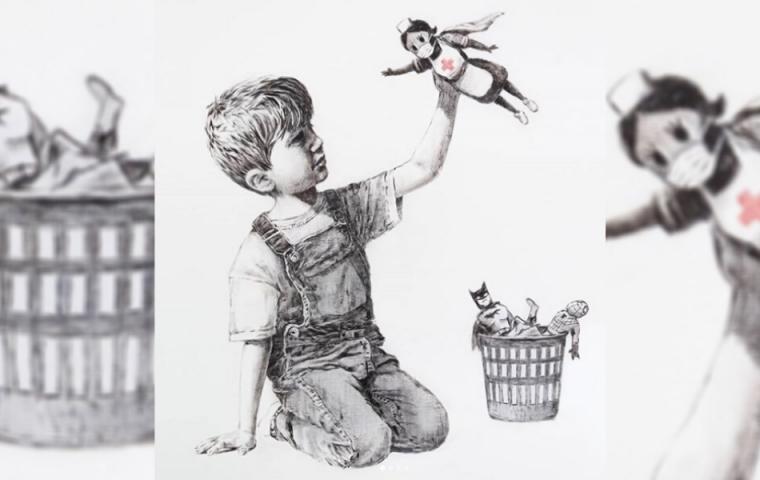 Banksy bedankt sich mit neuem Kunstwerk beim Krankenhauspersonal