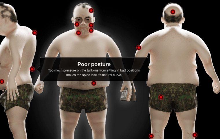 3D-Figuren zeigen, wie sich extremes Bingen auf unseren Körper auswirken kann