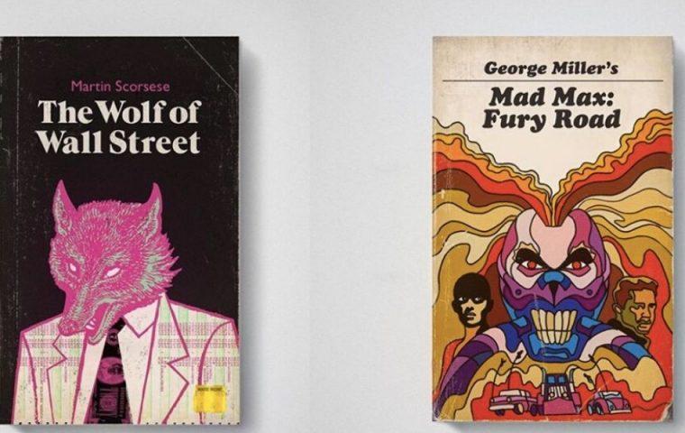 So würden berühmte Filme als Retro-Buchcover aussehen
