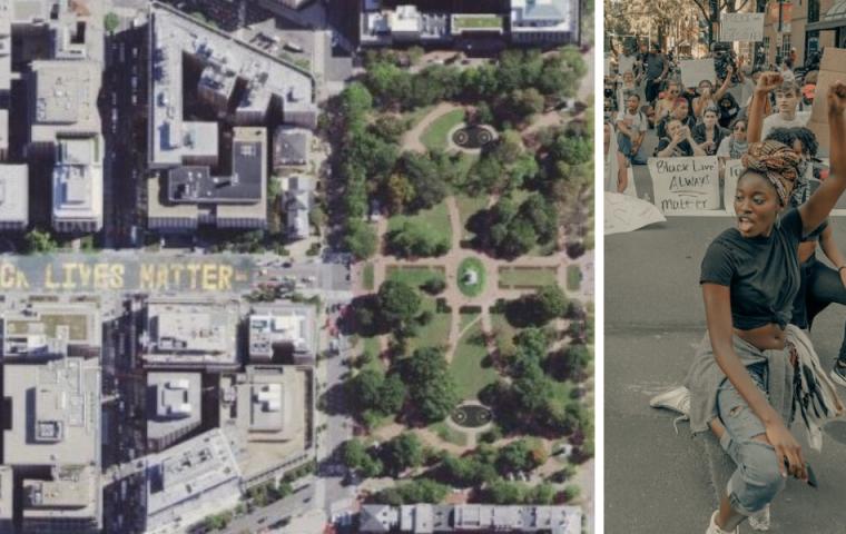"""Aktualisierte Karte: Der riesige """"Black Lives Matter""""-Schriftzug ist jetzt auf Apple Maps zu sehen"""