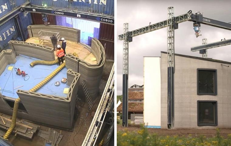 In 15 Tagen: 3D-Drucker baut ein mehrstöckiges Haus in Belgien