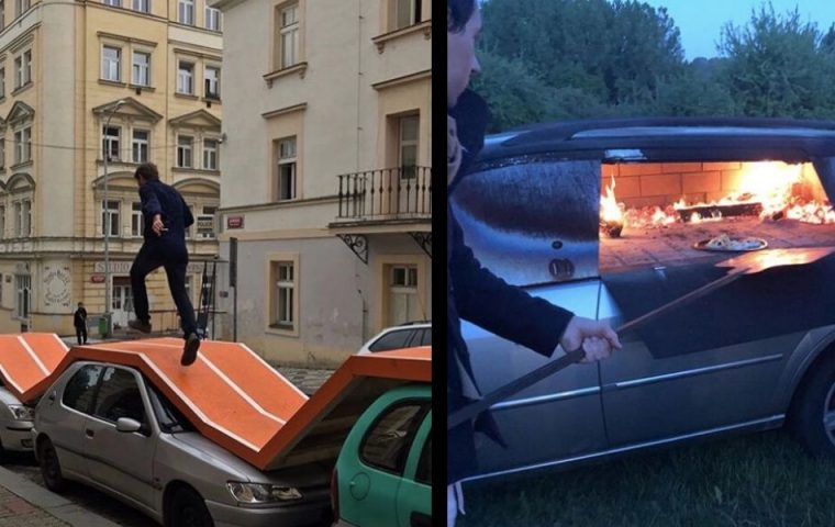 Weil er Autos sinnlos findet: Künstler zeigt, wie man sie alternativ nutzen könnte