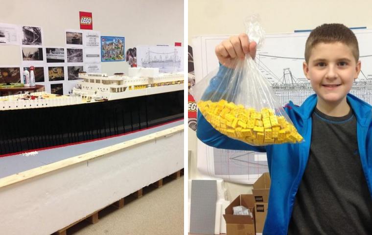 Als er zehn Jahre alt war: Isländer baute in 700 Stunden größte Lego-Titanic der Welt
