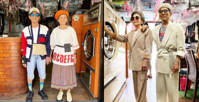 Ü80-Ehepaar kreiert Looks mit vergessenen Klamotten aus ihrem Waschsalon
