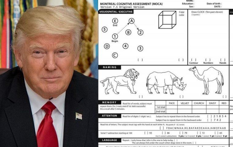 Das ist der Kognitionstest, bei dem Trump so gut abgeschnitten hat