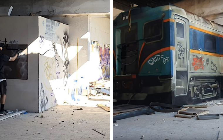 Graffiti-Artist kreiert verblüffende 3D-Wandbilder, die unsere Augen verwirren