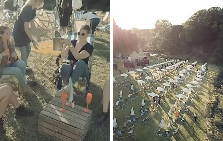 In England wurde das erste Social-Distance-Festival eröffnet