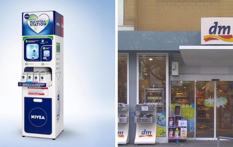 Dm und Nivea testen jetzt Nachfüllstationen für Duschgele in Deutschland