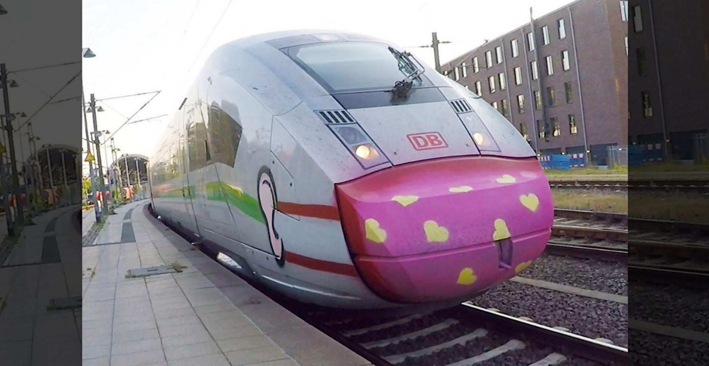 Graffiti-Artist sprüht ICE an und selbst die Deutsche Bahn feiert die Message