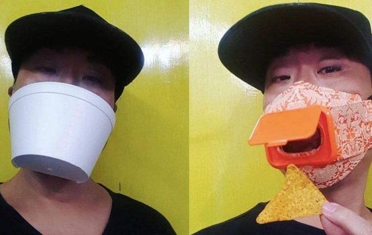Masken aus Plastik und CDs: Kostümdesigner macht auf Missstände aufmerksam